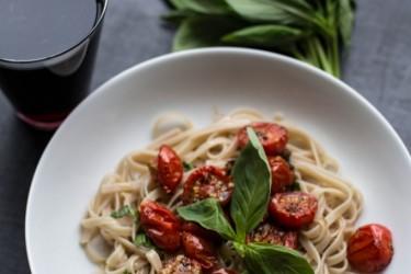 Fettucine With Roasted Tomatoes