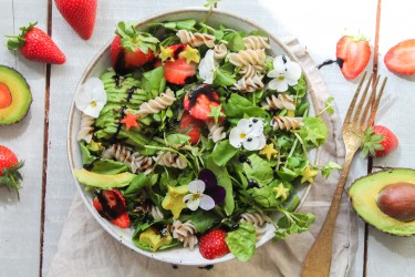 Avocado & Strawberry Pasta Salad