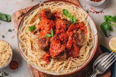 "Aubergine & Mushroom ""Meat"" Balls (Vegan)"