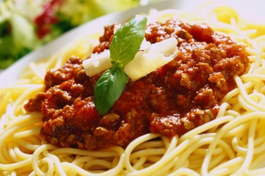 Tomato & Anchovy Sauce with Spaghetti