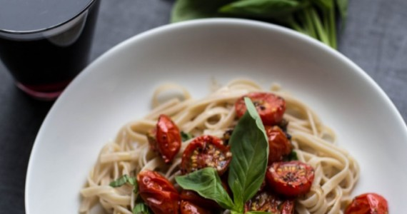 Fettucine With Roasted Tomatoes