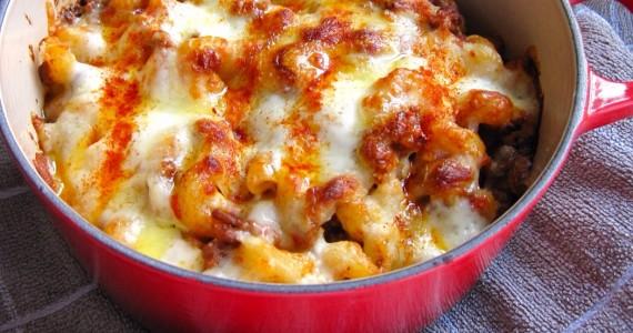 Spicy Chorizo Pasta Bake