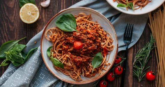 Lentil & Mushroom Bolognese
