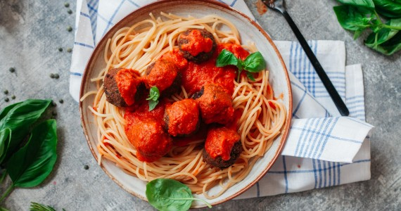 "Lentil & Aubergine ""Meat""balls (Vegan)"